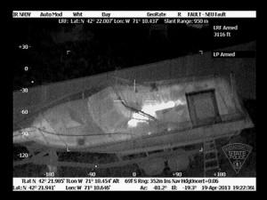 Infrared image of Boston Marathon suspect in hiding