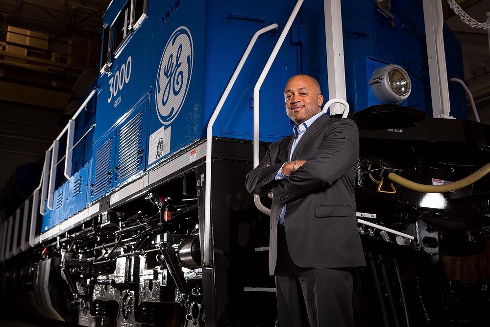 """We are in a special moment in time,"" says Russell Stokes, new CEO of GE Transportation. (Credit: Michael Nemeth For Forbes)"