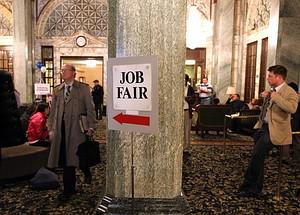 SAN FRANCISCO, CA - JULY 12:  Job seekers wait...