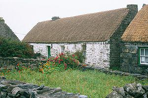 The cottage where Synge lodged on Inis Meáin, ...