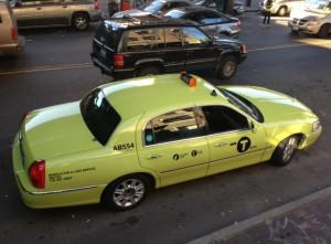"One of the first of an estimated 15,000 new ""Boro Taxis"" - New York's apple green attempt to address the city's problems with taxi supply and demand. Photo: John Giuffo"