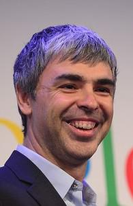 Google CEO Larry Page holds a press annoucemen...
