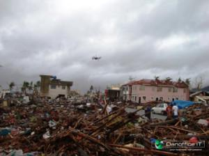 Danoffice IT flying drone to support rescue teams in Philippines
