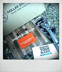 My first dollar shave club package is here! Fi...
