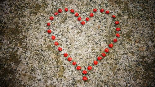 Romantic Heart from Love Seeds