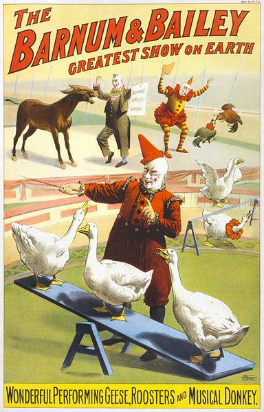 384px-Barnum_&_Bailey_clowns_and_geese2