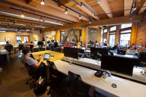 Impact Hub Seattle is a co-working space for social entrepreneurs in Seattle's Pioneer Square district.