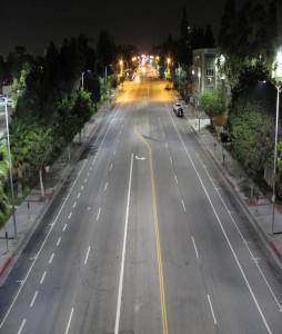 … and after the conversion to LED street lighting. Credit: Los Angeles Bureau of Street Lighting