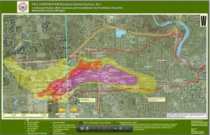 Ann Arbor's Dioxane Plume -- image from Washtenaw County