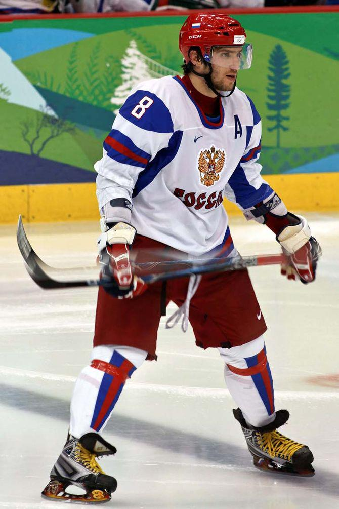 Alex Ovechkin at the 2010 Olympic Winter Games...