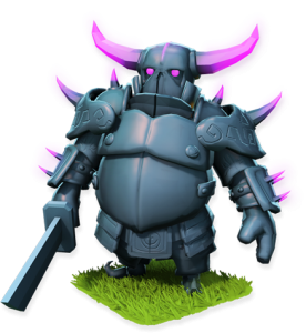 The P.E.K.K.A. warrior from Clash of Clans