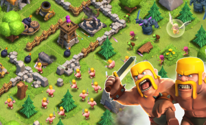 Clash of Clans features fortress building and battles.