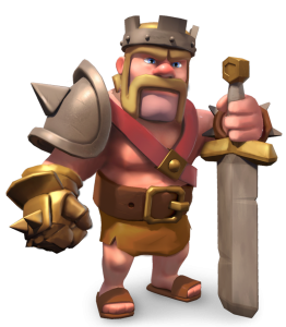 The Barbarian King, from Clash of Clans