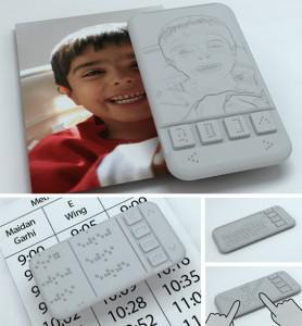 Conceptual models of the Braille-enabled smartphone. (image: Kriyate.org)