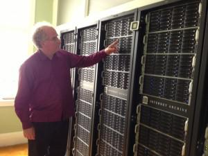 Brewster Kahle, with the Internet Archive's servers