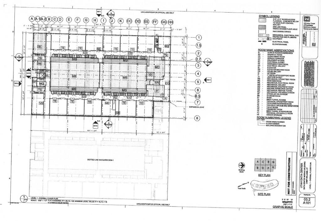 Blueprints of nsa 39 s ridiculously expensive data center in for Data center floor plan