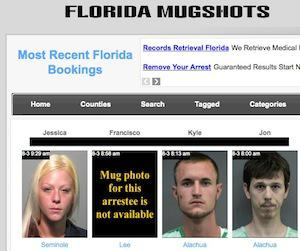 A website that specializes in optimizing old mug shots in Google searches