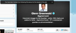 From now on, this dude won't know that Glenn Greenwald blocked him