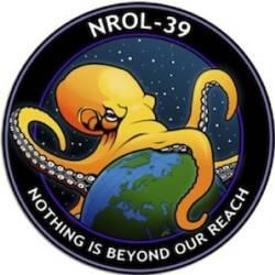 This is the real mission patch for a spy satellite heading into space today.
