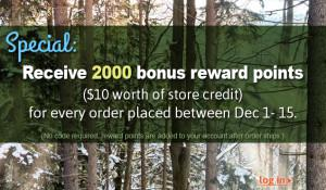 Greenhome.com is offering points