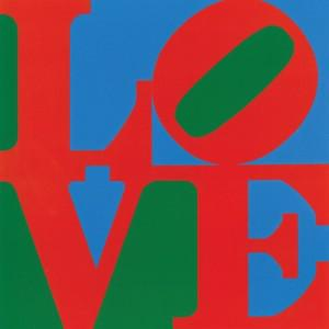 "LOVE, 1966, by Robert Indiana. The image that has ""eclipsed everything else he did"". (Image source: Indianapolis Museum of Art/Morgan Art Foundation, Artists Rights Society (ARS), New York."