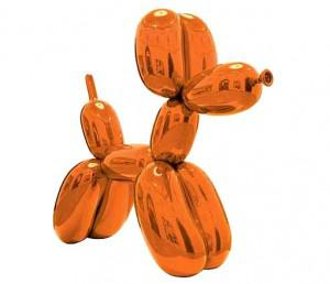 Jeff Koon's Balloon Dog (Orange) estimated at $35 million to $55 million, will be auctioned at... [+] Christie's next month.