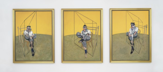 Francis Bacon's 'Three Studies of Lucian Freud' has become the most expensive art work ever to sell... [+] at auction.