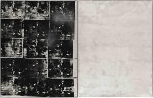 Andy Warhol's Silver Car Crash [Double Disaster], executed in summer 1963, sold for $105,445,000 at Sotheby's this November. (Image source) Sotheby's New York