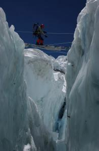 Alison Levine at Khumbu Icefall. Photo by Jake Norton.