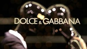 Dolce & Gabbana's logo is pictured on a window...