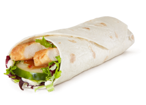 The new Premium McWrap Grilled Chicken with Sweet Chili sauce at McDonalds