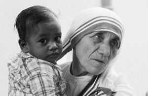 Mother Teresa in a Calcutta orphanage, 1979. Bettmann / Corbis