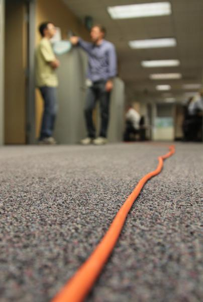New hires noticed the bright orange extension cord that nobody else does