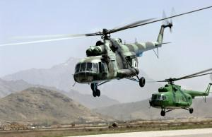 Russian Mi-17s in Kabul. The Defense Department is sticking by its order for 30 more to be used in Afghanistan even though 10 lawmakers have tried to stop the order.