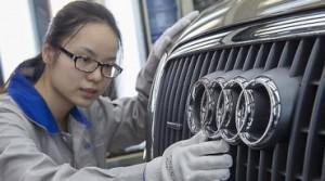 Audi, Mercedes Benz, BMW and Volkswagen luxury editions account for nearly 80% of the Chinese... [+] premium auto market. That market is seen surpassing that of the United States as early as 2016.