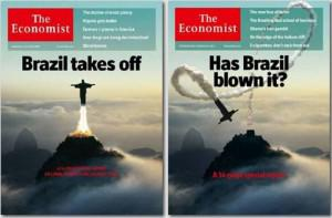 The Economist magazine had to correct its view of Brazil from just a few years ago to one that shows Brazil coming in for a landing, though thankfully one that is much softer than the one this image suggests.
