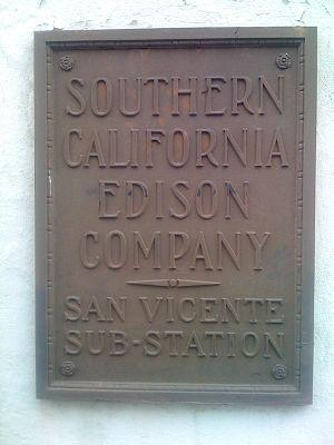 English: Sign for Southern California Electric
