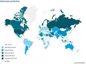 Natural Gas Production in the World -2009