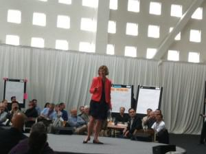 UCSF Chancellor Susan Desmond-Hellmann at the OME conference.