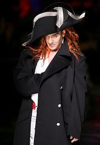 British designer John Galliano greets the crow...
