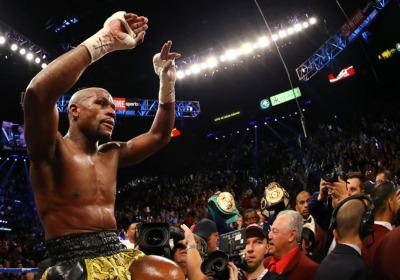 """Money"" Mayweather is riding high with more than 4 million Twitter followers. (Image credit: Al Bello/Getty Images)"
