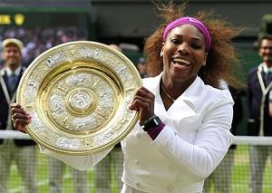 US player Serena Williams celebrates with the ...