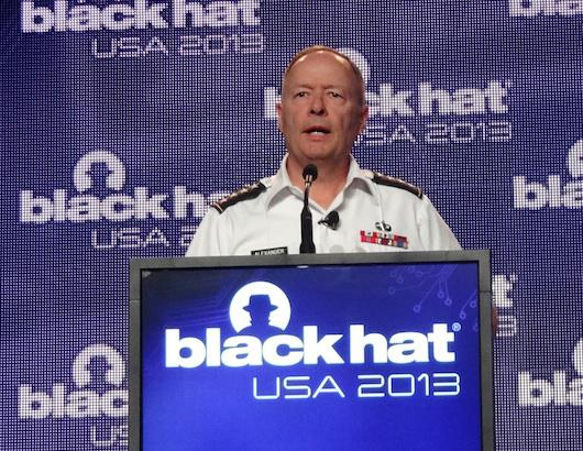 NSA chief General Keith Alexander adresses Black Hat (photo: Larry Magid)