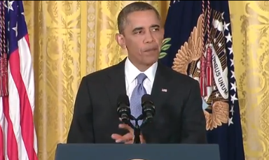 President Obama addresses government snooping during White House press conference (Credit: White... [+] House YouTube feed)
