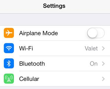 Turn off unneeded radios in the main settings page