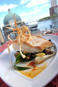 Fine dining and fresh seafood are specialites at the Boston Harbor Hotel.