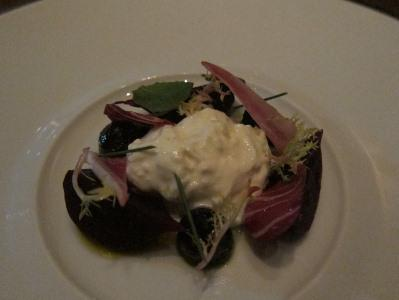The burrata starter at Addison in Del Mar, CA was awesome