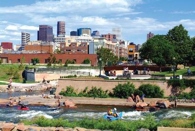 Denver has the largest park system of any U.S. city - including this new whitewater center,... [+] Confluence Park, downtown. Photo: Stan Obert