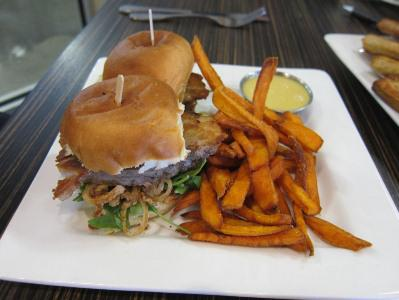 Craft beer is a huge attraction. The Ft. Collins Brewery houses Gravity 1020, perhaps the nation's... [+] finest brewery restaurant, where you can enjoy these pork belly sliders.