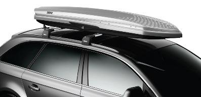 With dimples borrowed from golf ball design, Thule's Sonic line features the company's lowest drag,... [+] most aerodynamic rooftop cargo boxes ever.